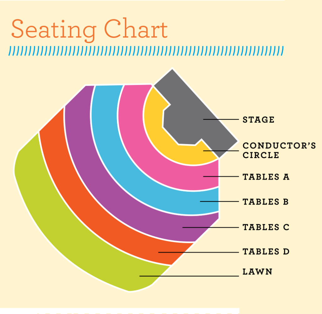 LA County Arboretum seating chart